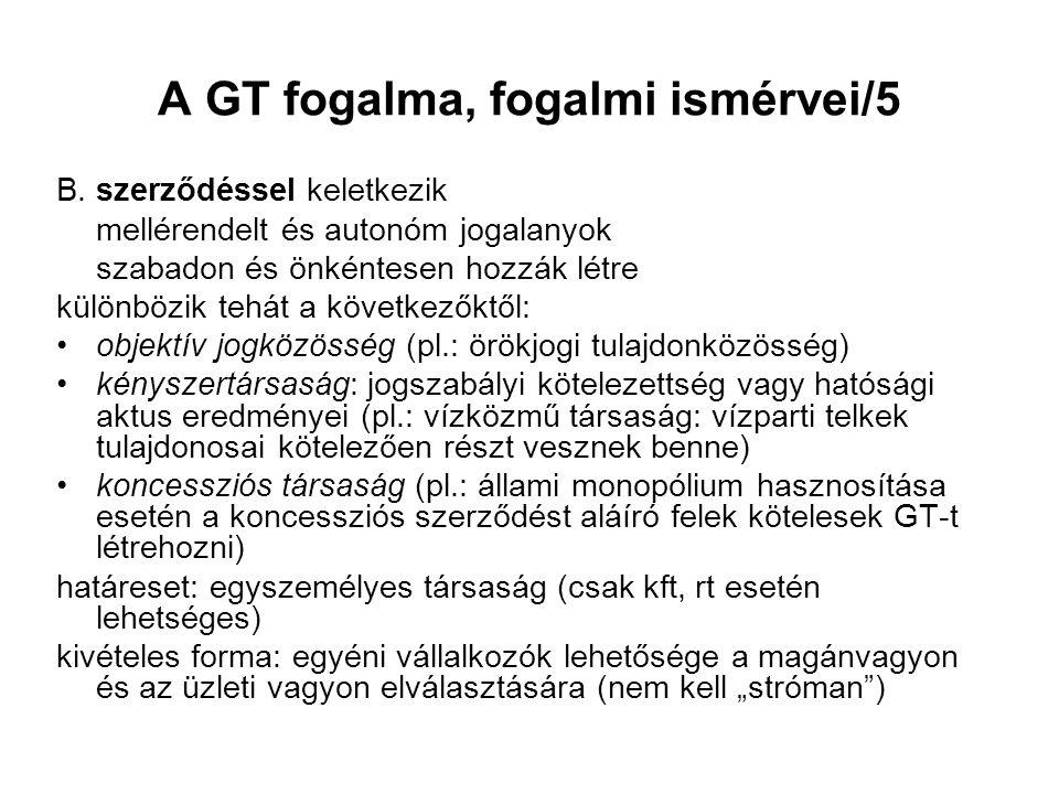 A GT fogalma, fogalmi ismérvei/5 B.
