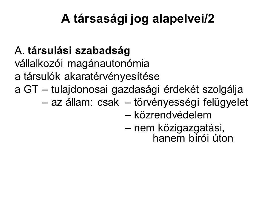A társasági jog alapelvei/2 A.