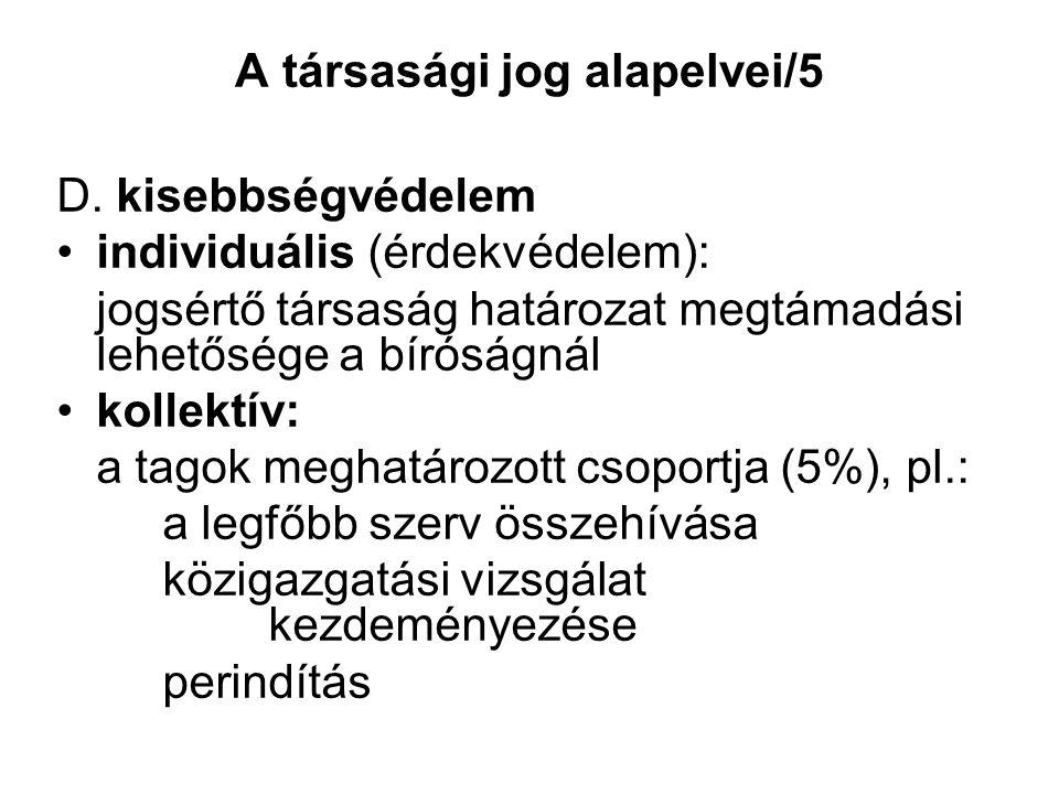 A társasági jog alapelvei/5 D.