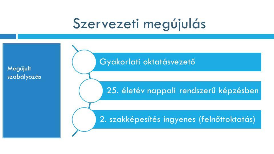 Szervezeti megújulás Gyakorlati oktatásvezető 25.életév nappali rendszerű képzésben 2.