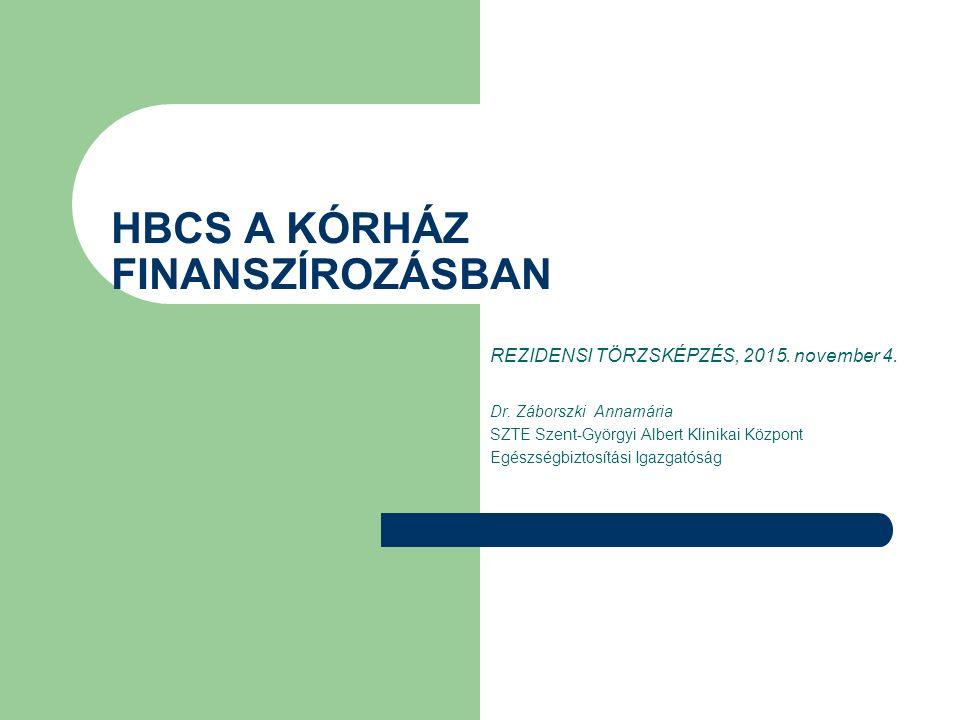 SZTE SZAKK - OEP finanszírozás 2014. év (adatok millió forintban) 15 508 2015. november 4.