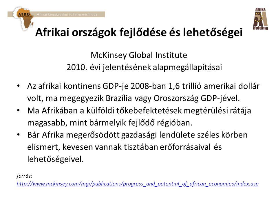 Afrikai országok fejlődése és lehetőségei McKinsey Global Institute 2010.