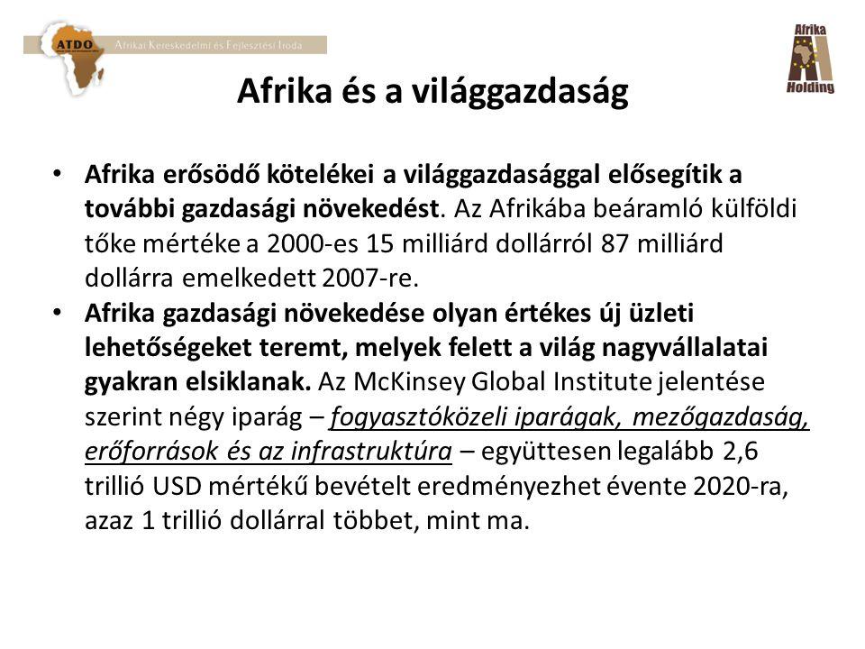 Afrika és a világgazdaság Afrika erősödő kötelékei a világgazdasággal elősegítik a további gazdasági növekedést.