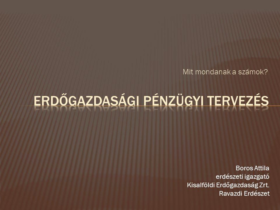 Mit mondanak a számok.Boros Attila erdészeti igazgató Kisalföldi Erdőgazdaság Zrt.