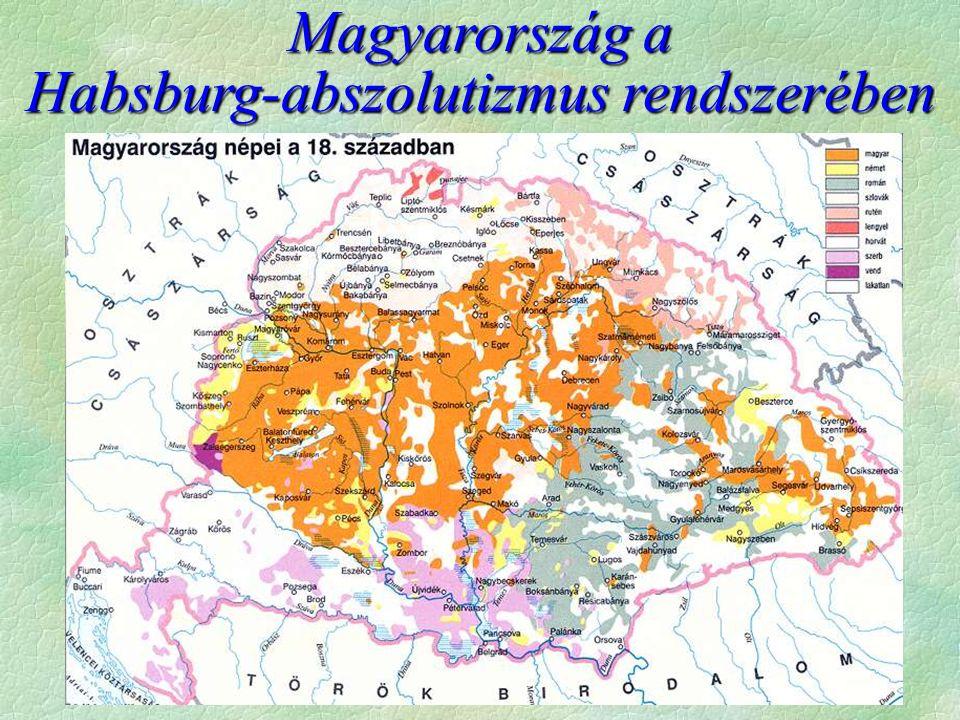 Mezőgazdaság fejlődése  A nyugati részeken  szántóföldi termelés és a háromnyomásos rendszer (Gabona)  Az egykori hódoltság részein  (föld volt bőven)  előbb a vad talajváltó rendszer  majd a kétnyomásos gazdálkodás  paraszti földközösség, nyílvetés  trágyázás   A fejlődés következtében a XVIII.