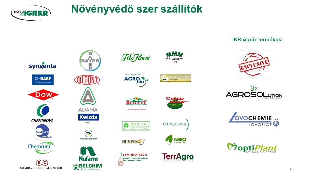 Nővényvédő szer szállítók IKR Agrár termékek: 6