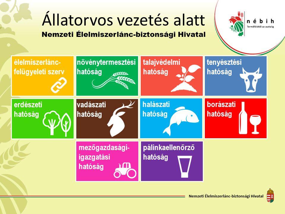 Állatorvos vezetés alatt Nemzeti Élelmiszerlánc-biztonsági Hivatal élelmiszerlánc- felügyeleti szerv növénytermesztési hatóság talajvédelmi hatóság te