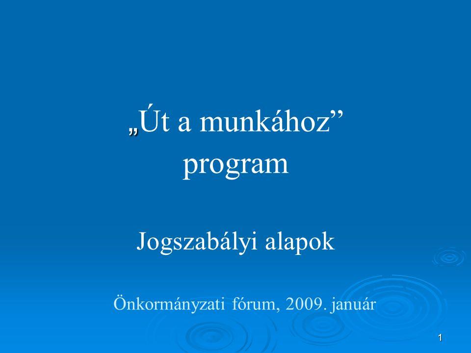 Főbb jogszabályok   egyes szociális és foglalkoztatási tárgyú törvények módosításáról szóló 2008.