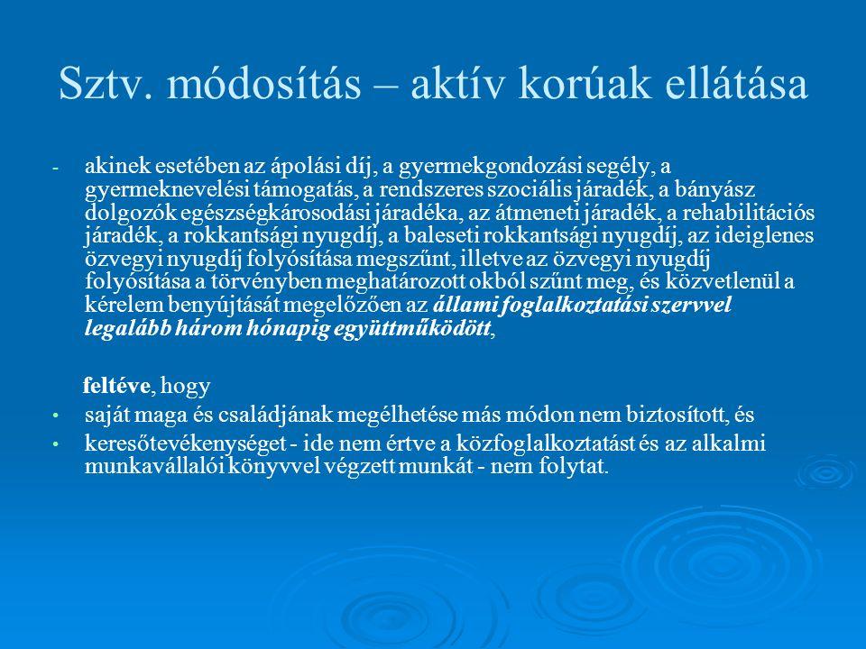 Közfoglalkoztatás A közfoglalkoztatási terv  Készíti: települési önkormányzat, vagy a közfoglalkoztatási feladatokat magára vállaló társulás  Véleményezi: állami foglalkoztatási szerv (illetékes munkaügyi kirendeltség), és a szociálpolitikai kerekasztal ( 2000 fő felett)  Határidők: 2009-ben április 15.