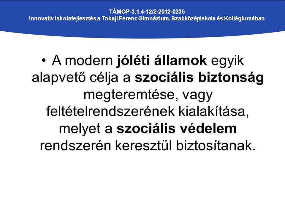 A modern jóléti államok egyik alapvető célja a szociális biztonság megteremtése, vagy feltételrendszerének kialakítása, melyet a szociális védelem ren