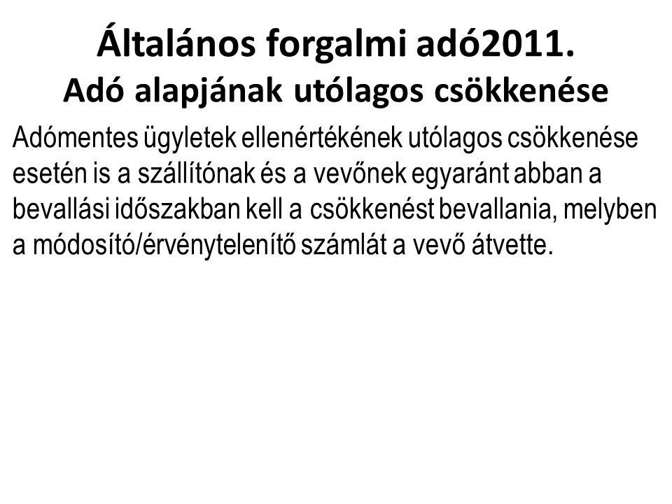 Általános forgalmi adó2011.