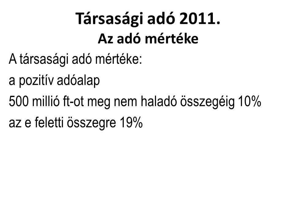 Társasági adó 2011.