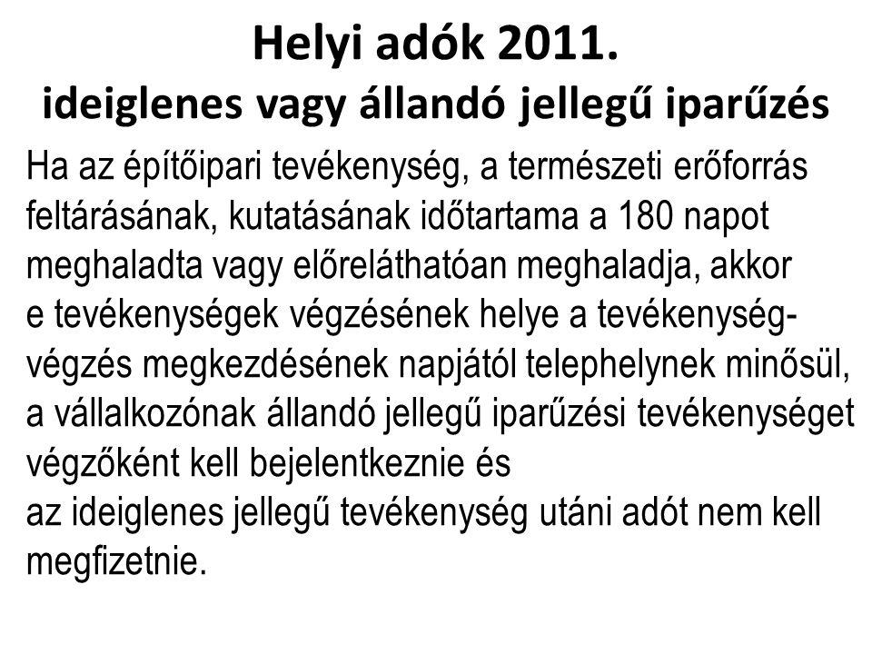 Helyi adók 2011.