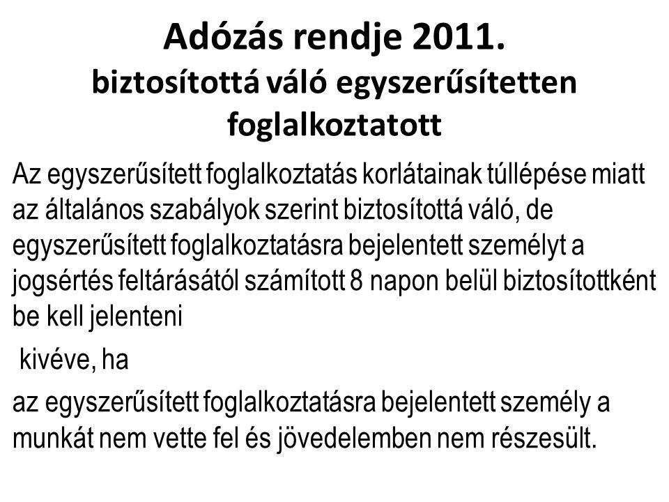 Adózás rendje 2011.