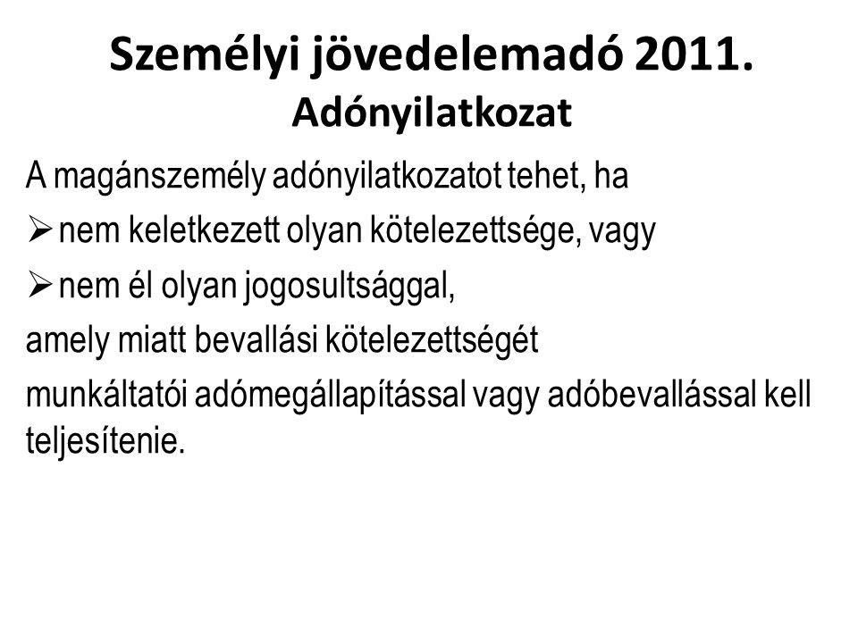 Személyi jövedelemadó 2011.