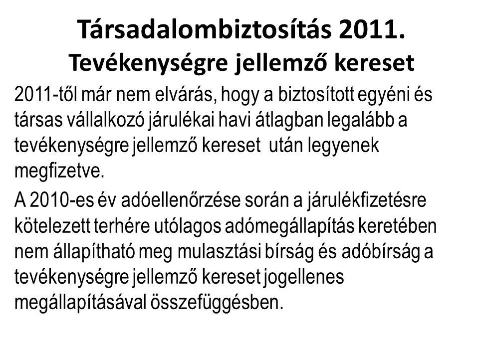 Társadalombiztosítás 2011.