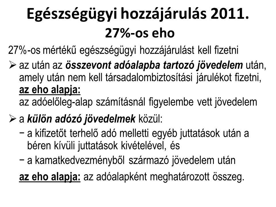 Egészségügyi hozzájárulás 2011.