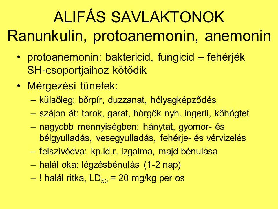 Ranunculus acris - réti boglárka Méreg: szaponinok, protoanemonin, anemonin .