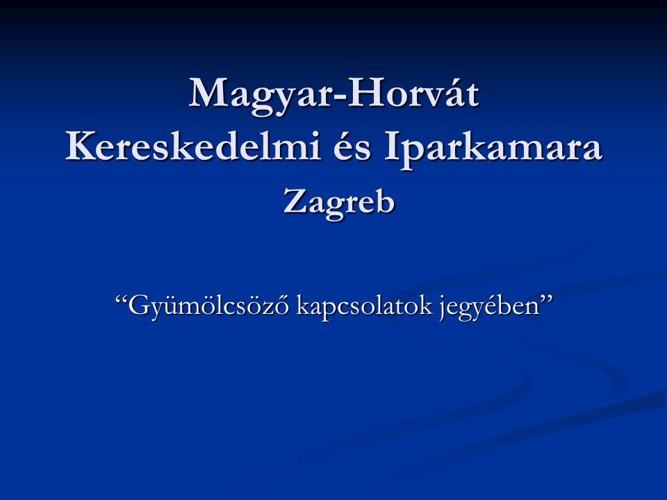 Magyar-Horvát Kereskedelmi és Iparkamara Zagreb Gyümölcsöző kapcsolatok jegyében