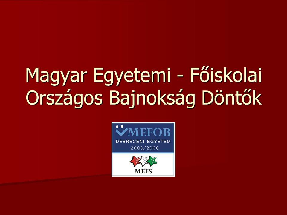 Magyar Egyetemi - Főiskolai Országos Bajnokság Döntők