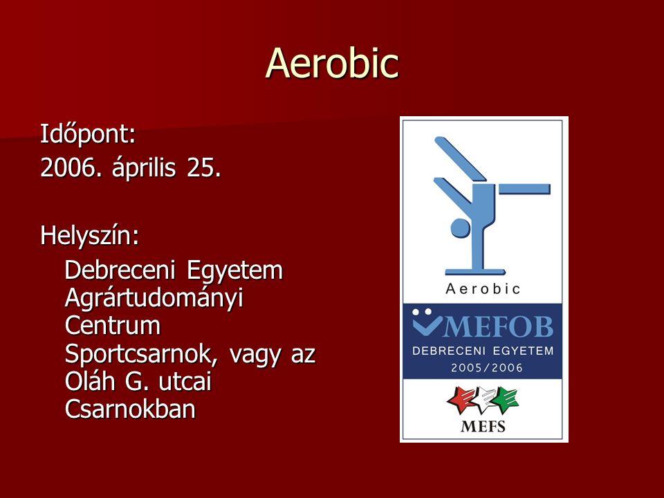 Aerobic Időpont: 2006. április 25.