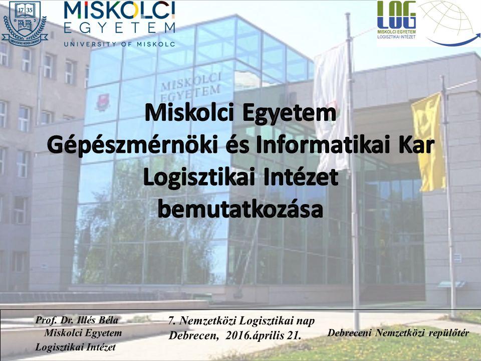 Témakörök 1.Az intézet története 2.A logisztikai oktatás múltja és jelene az intézetben 3.Nemzetközi kapcsolatok a logisztika területén 4.K+F+I az intézetben az elmúlt időszakban 5.Projektek az elmúlt időszakban 6.Ipari kapcsolatok Prof.