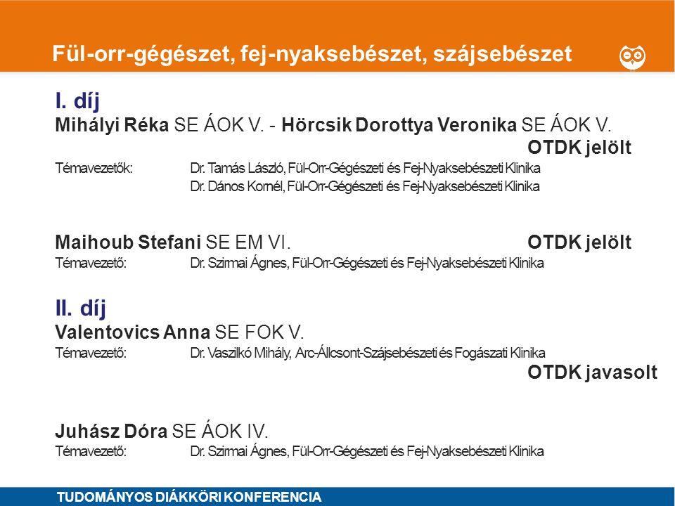 1 Gasztroenterológia I.díj MINTA ÁRON SE ÁOK VI.