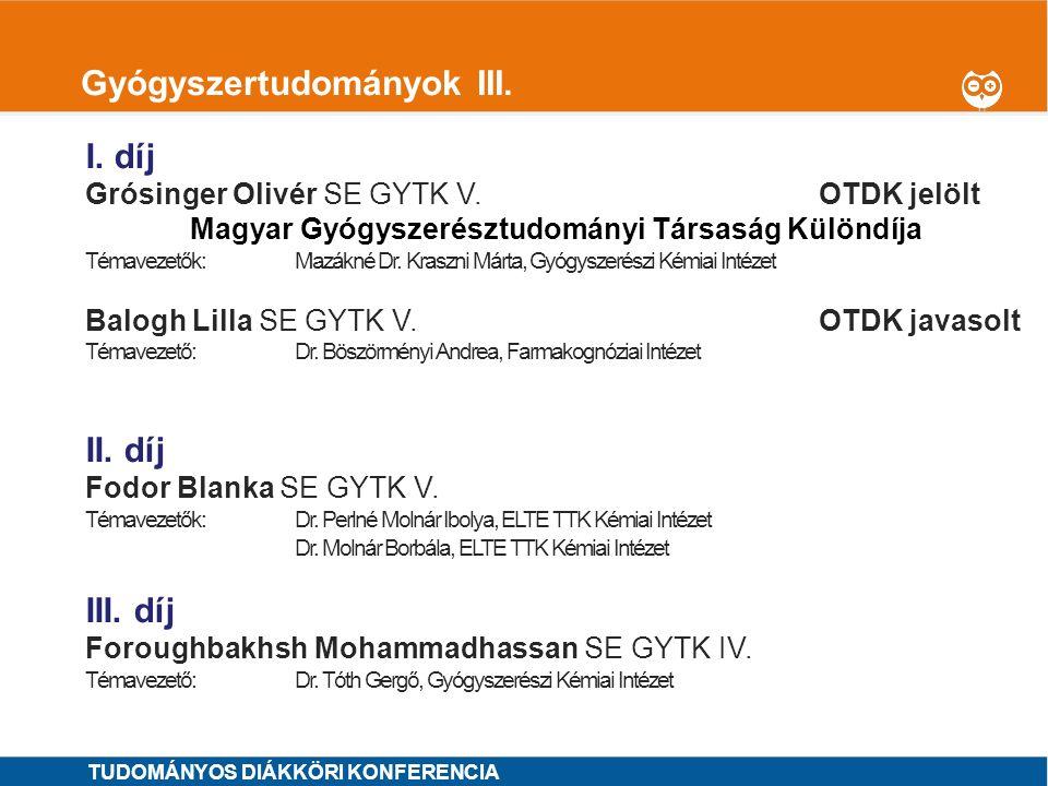 1 Idegtudományok I.I. díj Bruzsik Bíborka ELTE TTK V.OTDK jelölt Témavezető: Dr.