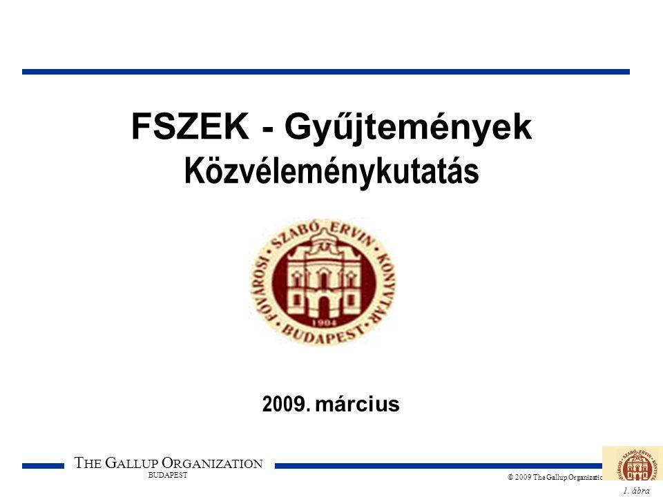 1. ábra T HE G ALLUP O RGANIZATION BUDAPEST © 2009 The Gallup Organization FSZEK - Gyűjtemények Közvéleménykutatás 200 9. március