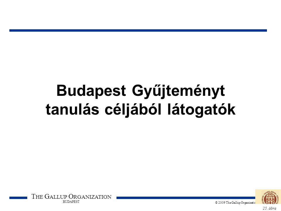 25. ábra T HE G ALLUP O RGANIZATION BUDAPEST © 2009 The Gallup Organization Budapest Gyűjteményt tanulás céljából látogatók