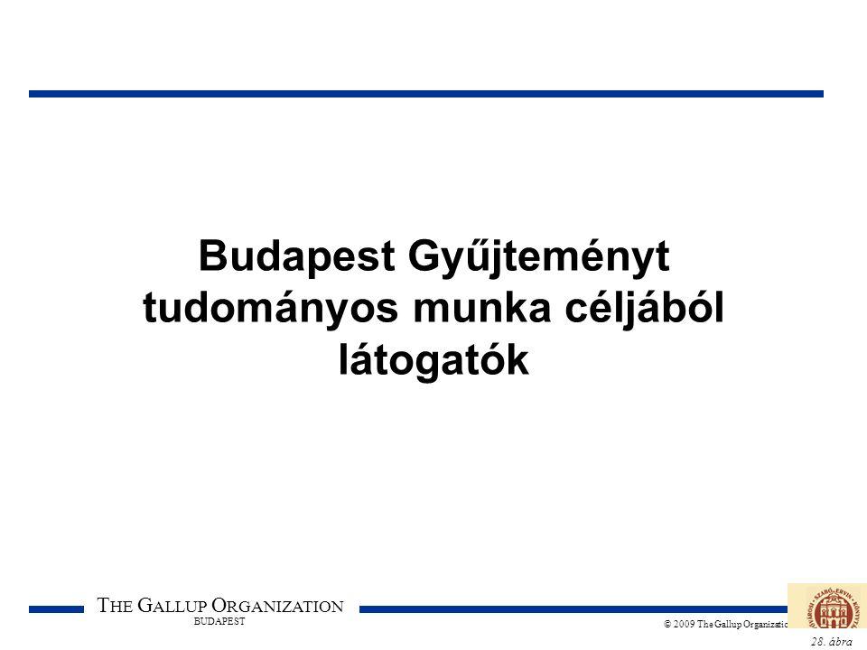 28. ábra T HE G ALLUP O RGANIZATION BUDAPEST © 2009 The Gallup Organization Budapest Gyűjteményt tudományos munka céljából látogatók