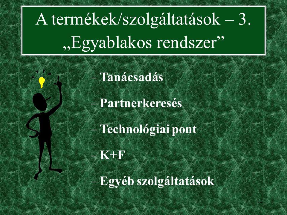 11 A termékek/szolgáltatások – 2.