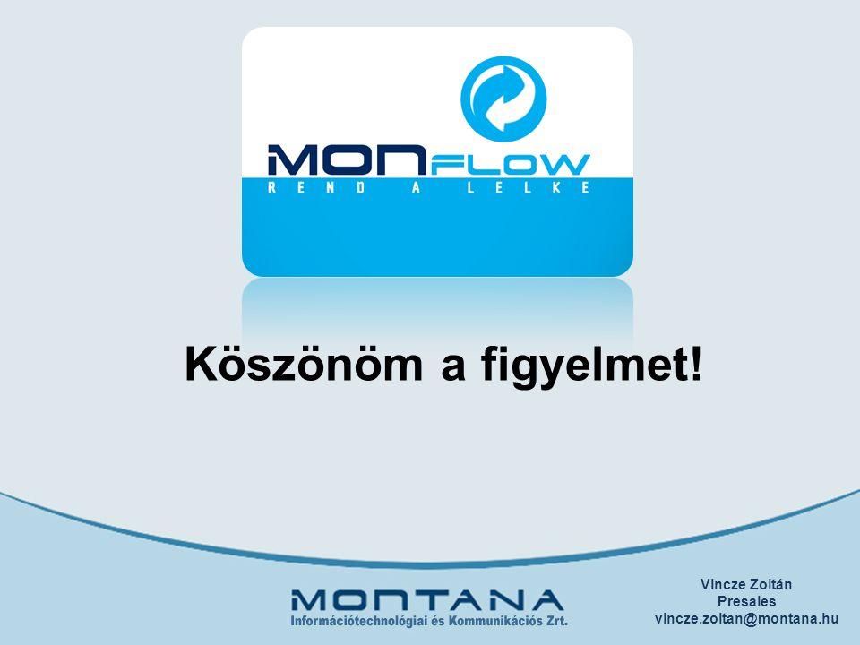 Köszönöm a figyelmet! Vincze Zoltán Presales vincze.zoltan@montana.hu