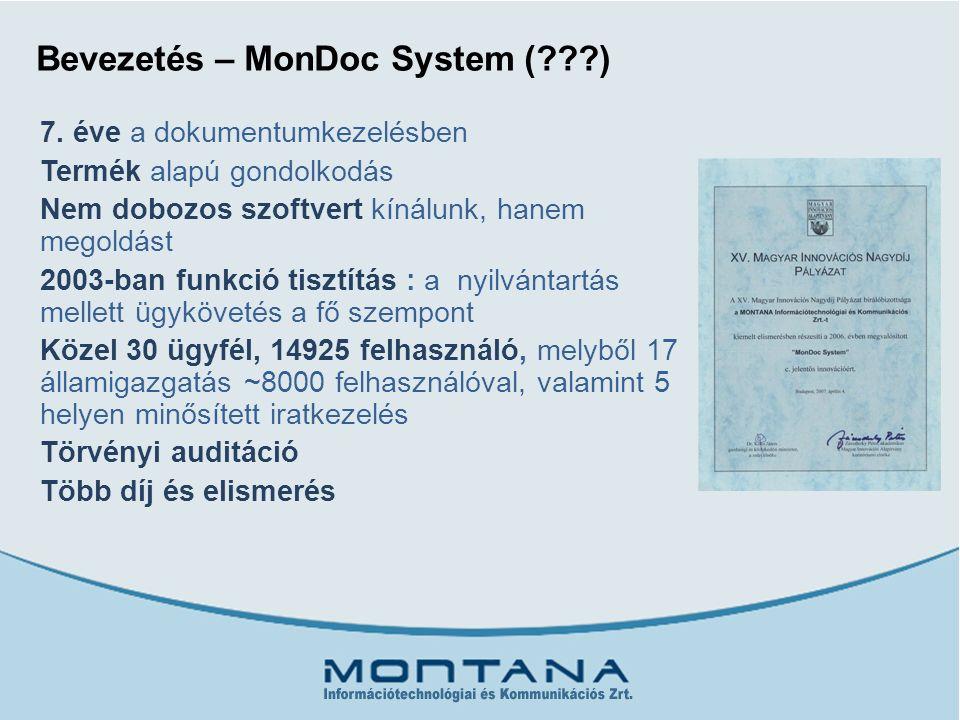 Bevezetés – MonDoc System ( ) 7.