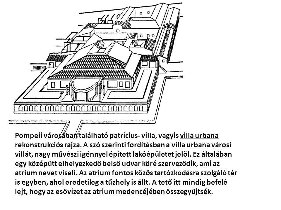Pompeii városában található patrícius- villa, vagyis villa urbana rekonstrukciós rajza.