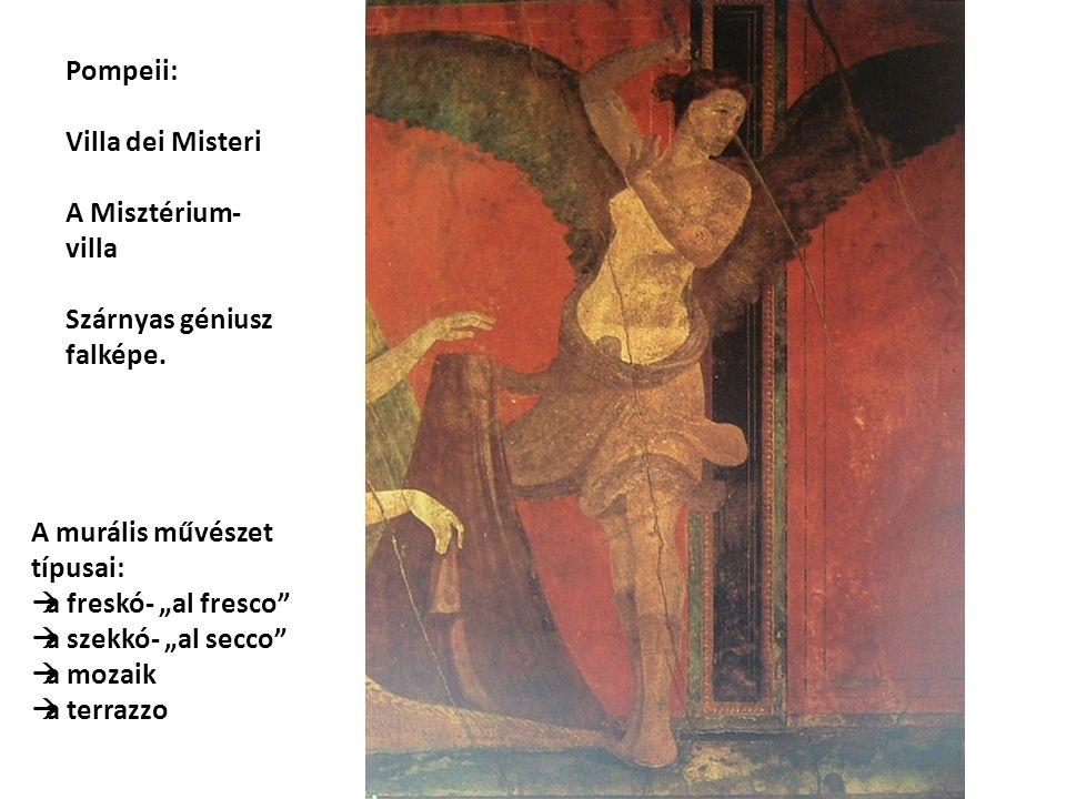 Pompeii: Villa dei Misteri A Misztérium- villa Szárnyas géniusz falképe.