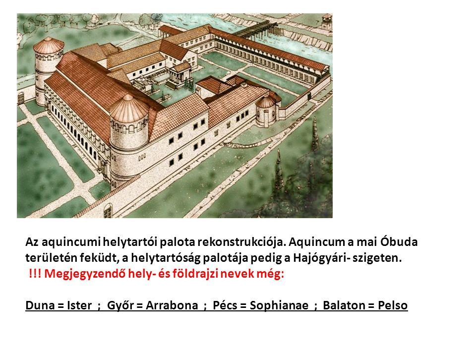 Az aquincumi helytartói palota rekonstrukciója.