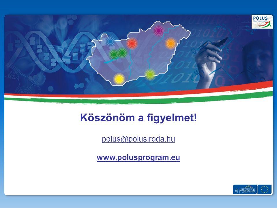 Köszönöm a figyelmet! polus@polusiroda.hu www.polusprogram.eu