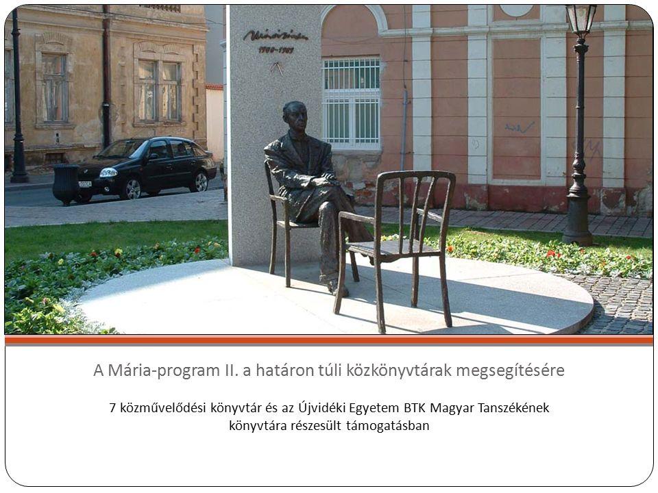 A Mária-program II.
