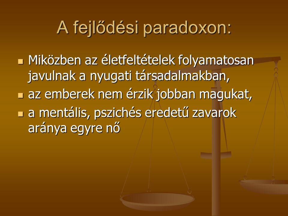 A kiábrándulás démona és a lelkesedés angyala közötti ingadozás A magyar társadalomra jellemző a kiábrándultság és a lelkesedés közötti ingadozás- bipoláris típusok gyakoribbak, nem a depresszió, magas teljesítmény motiváció, a kiábrándulás démona helyett a lelkesedés angyala.