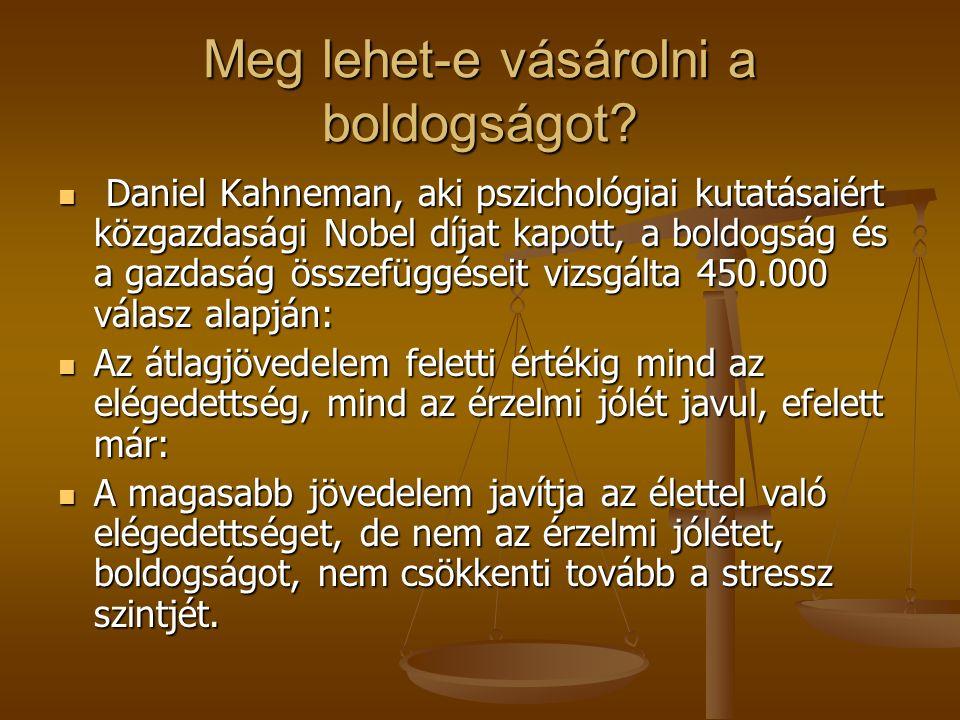 A gazdasági növekedés és a társadalmi jóllét, életminőség viszonya George Akerlof, a Berkeley egyetem Nobel-díjas (2001) közgazdaságtan professzora új