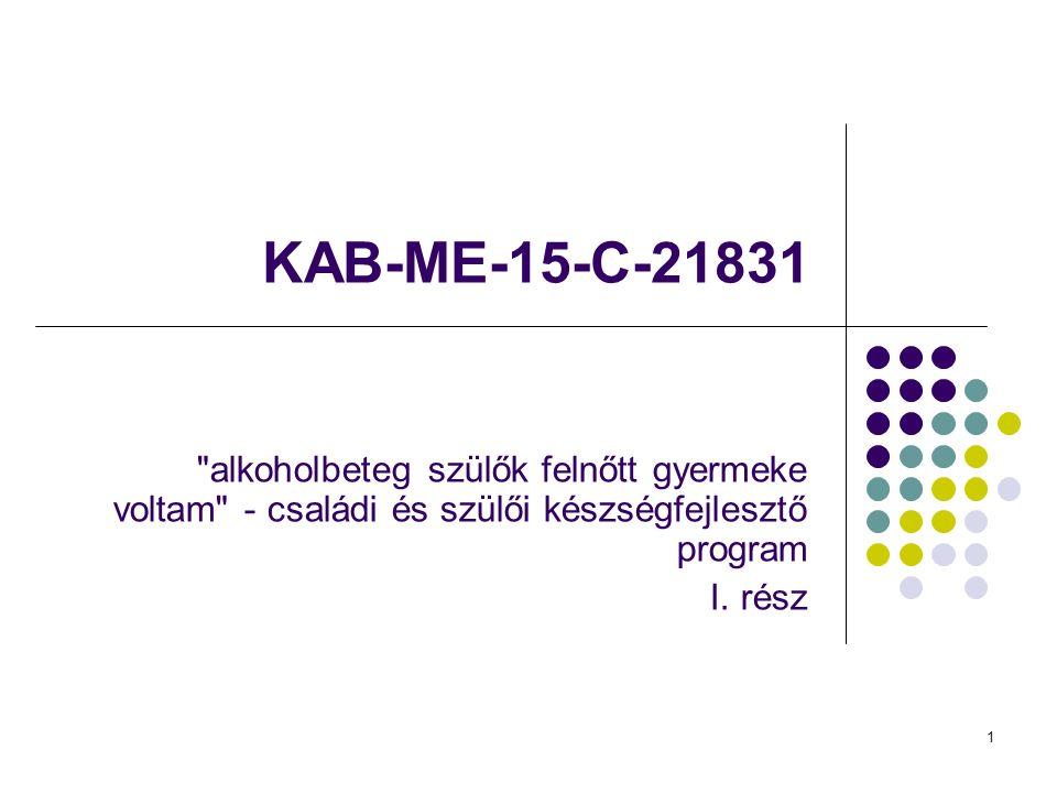 1 KAB-ME-15-C-21831 alkoholbeteg szülők felnőtt gyermeke voltam - családi és szülői készségfejlesztő program I.