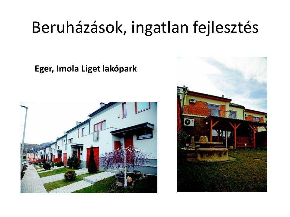 Beruházások, ingatlan fejlesztés Eger, Imola Liget lakópark