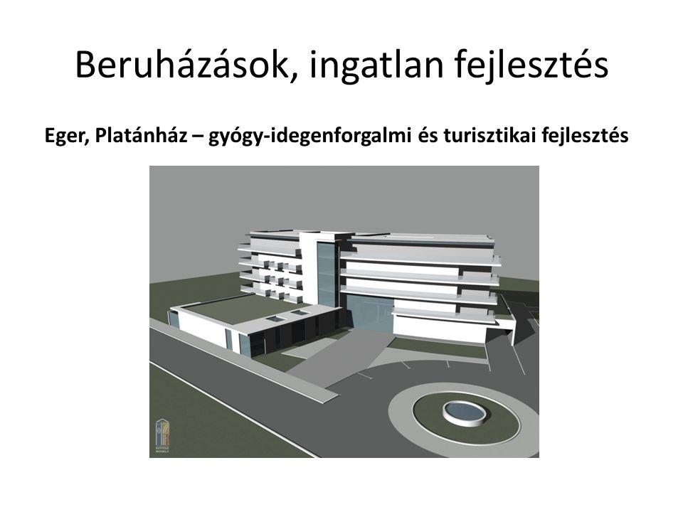 Beruházások, ingatlan fejlesztés Eger, Platánház – gyógy-idegenforgalmi és turisztikai fejlesztés