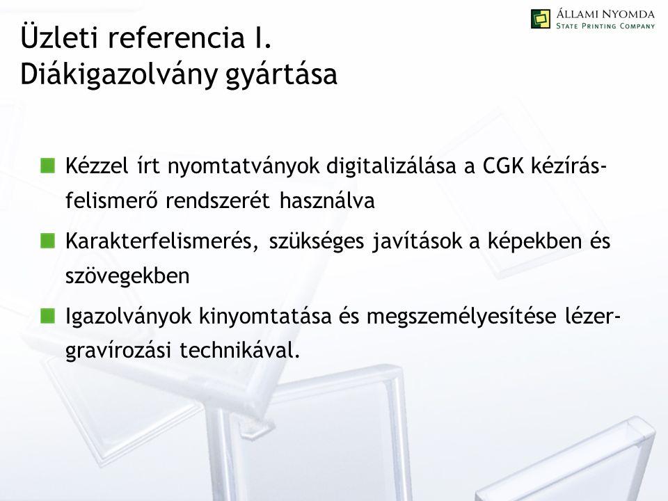 Üzleti referencia I.