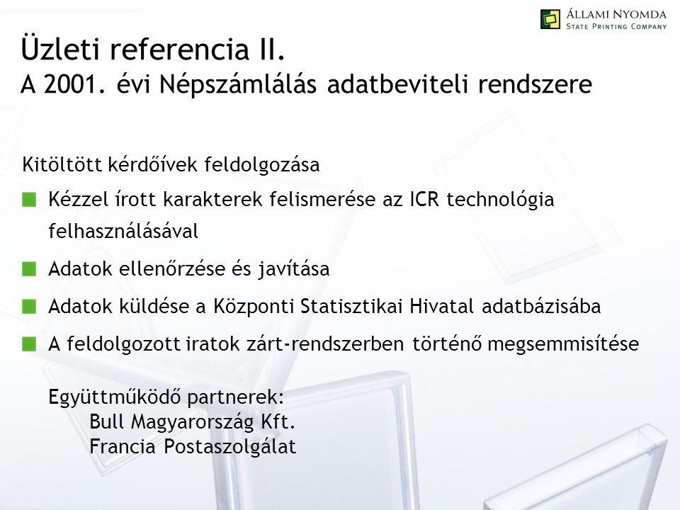 Üzleti referencia II. A 2001.