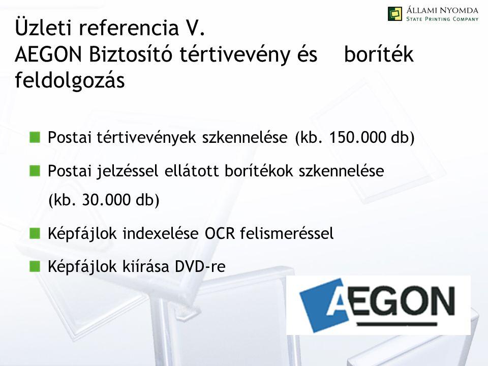 Üzleti referencia V.