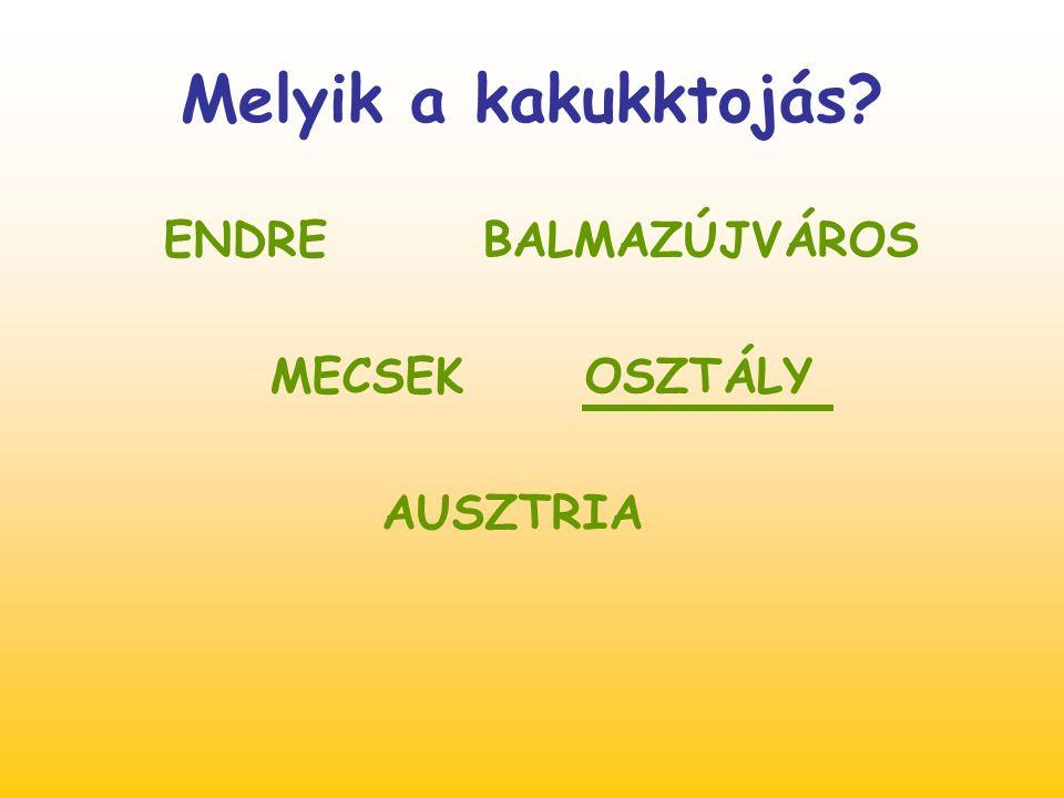 Mely nevek betűit kevertem össze? IZSÓAF ILTATA OMTICS Zsófia Attila Tomcsi személynevek