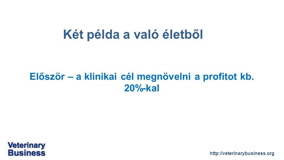 http://veterinarybusiness.org Először – a klinikai cél megnövelni a profitot kb.