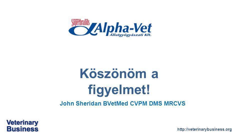 http://veterinarybusiness.org John Sheridan BVetMed CVPM DMS MRCVS Köszönöm a figyelmet!